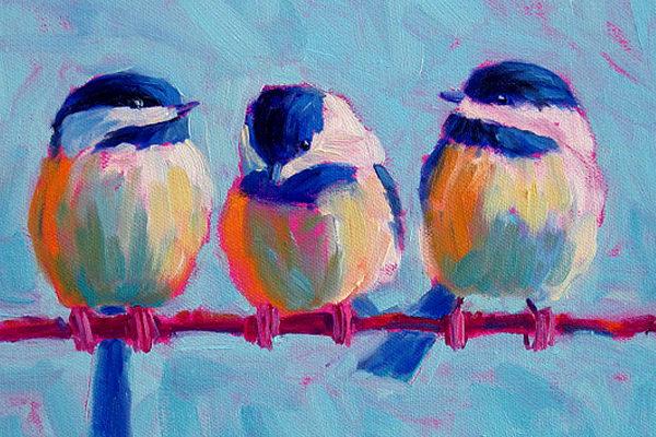 Картинка к сказке Три птички