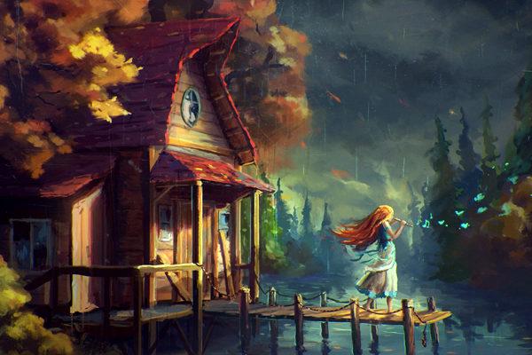 Картинка к сказке Умная Эльза