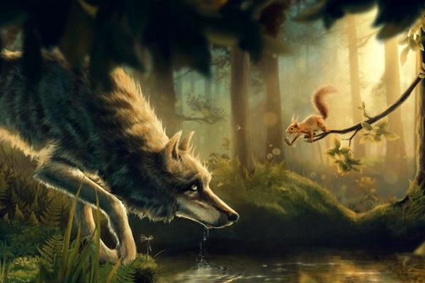 Картинка к сказке Язык зверей