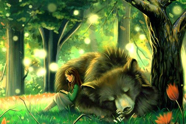Картинка к сказке Заяц, косач, медведь и весна