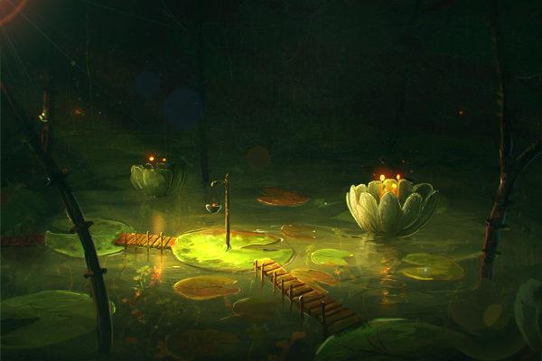 Картинка к сказке Зелёный пруд