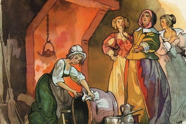 Картинка к сказке Золотая девонька