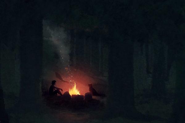 Картинка к сказке Дым в лесу
