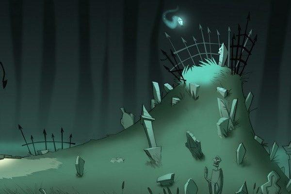 Картинка к сказке Могильный холм