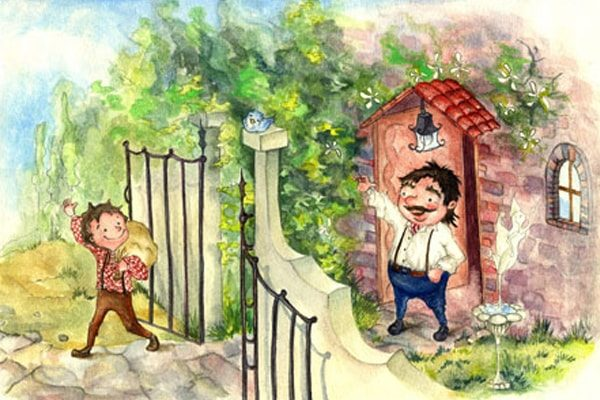 Картинка к сказке Могучий Ганс