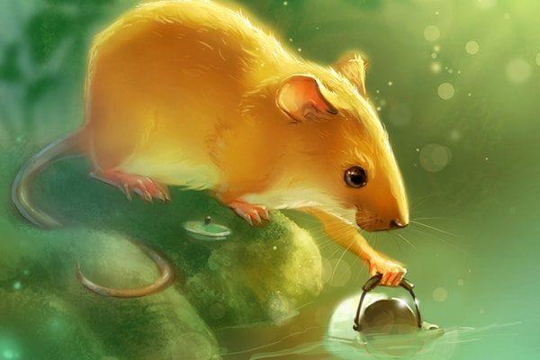 Картинка к сказке О мышке, птичке и колбаске