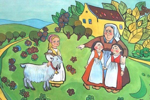Картинка к сказке Одноглазка, двуглазка и трехглазка