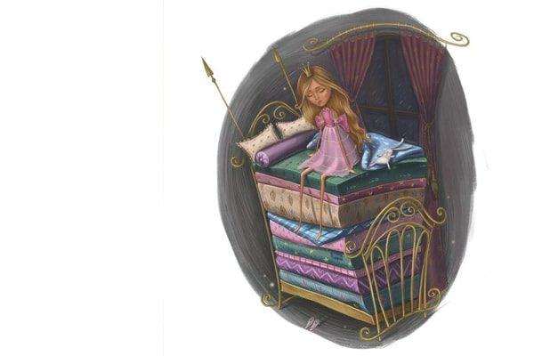 Картинка к сказке Принцесса на горошине