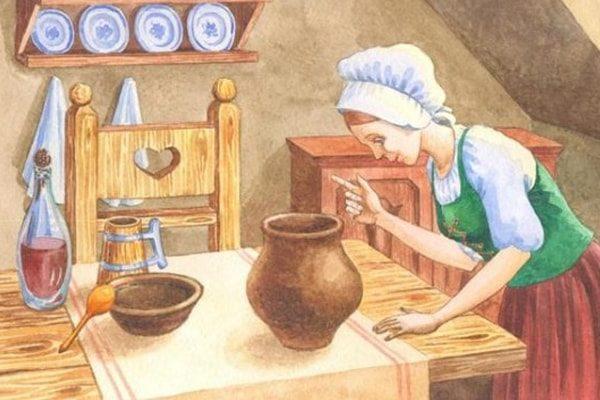 Картинка к сказке Сладкая каша