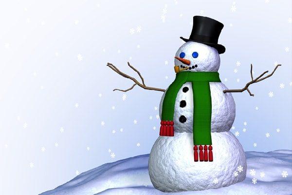 Картинка к сказке Снеговик