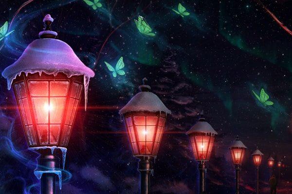 Картинка к сказке Старый уличный фонарь