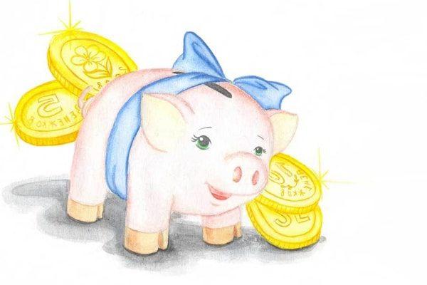 Картинка к сказке Свинья-копилка