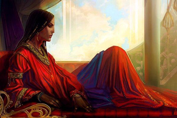 Картинка к сказке Александрийский шейх Али-Бану и его невольники