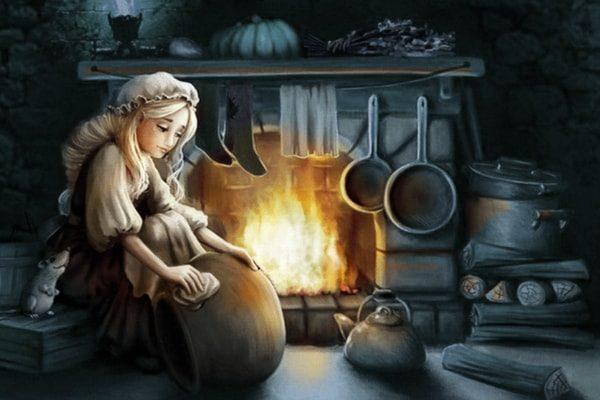 Картинка к сказке Бабушка Метелица