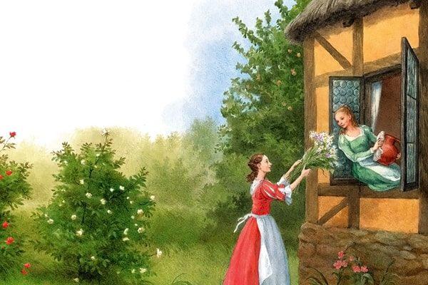 Картинка к сказке Белоснежка и Краснозорька