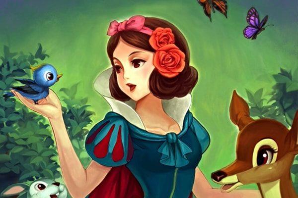 Картинка к сказке Белоснежка и семь гномов