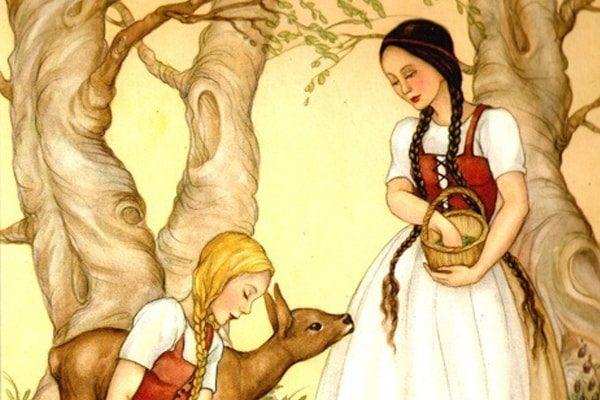 Картинка к сказке Беляночка и Розочка