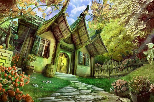 Картинка к сказке Домик в лесу