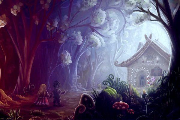 Картинка к сказке Гензель и Гретель