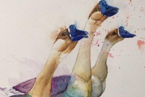 Картинка к сказке Гусятница у колодца