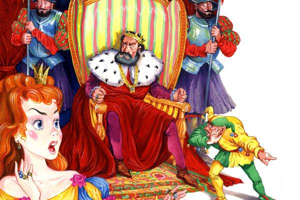 Картинка к сказке Как Джованнино потрогал короля за нос
