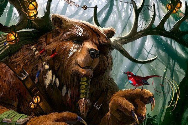Картинка к сказке Королёк и медведь