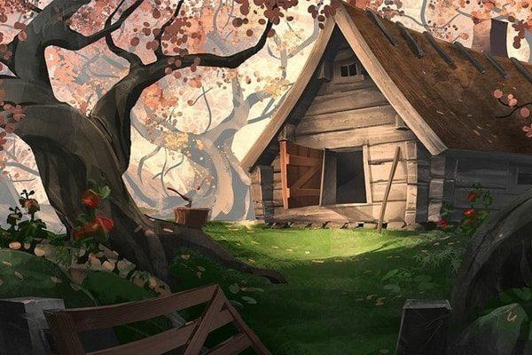 Картинка к сказке Лесная избушка