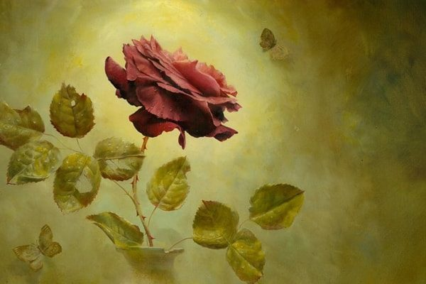 Картинка к сказке О дивной розе без шипов