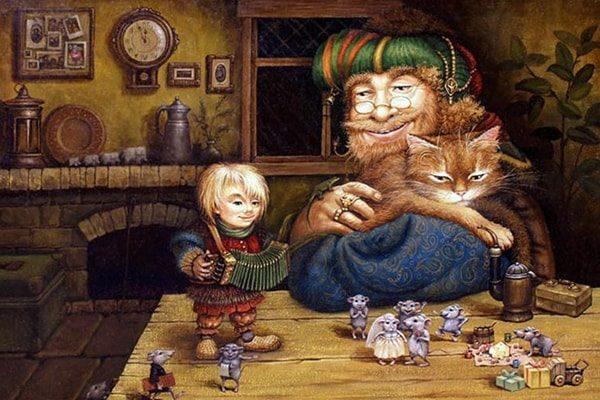 Картинка к сказке Про дедушку, который не умел рассказывать сказки