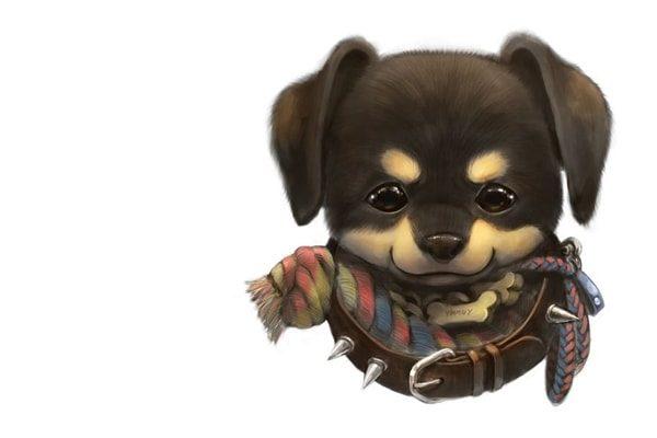Картинка к сказке Собака, которая не умела лаять