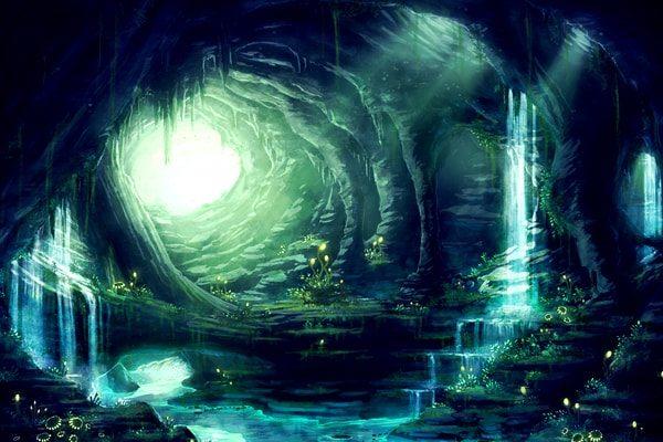 Картинка к сказке Стинфольская пещера