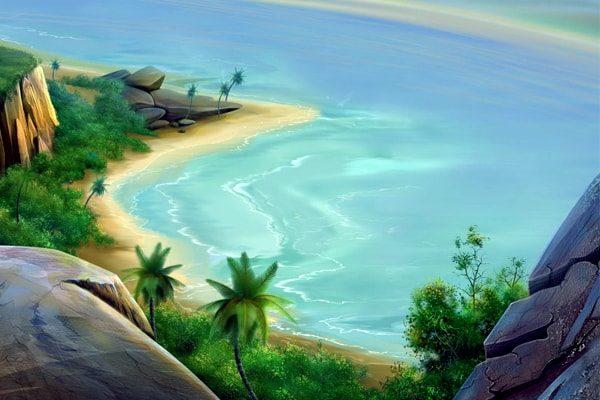 Картинка к сказке Трое на острове