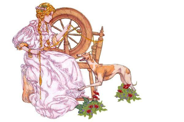 Картинка к сказке Веретено, ткацкий челнок и иголка