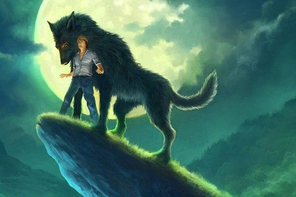Картинка к сказке Волк и человек