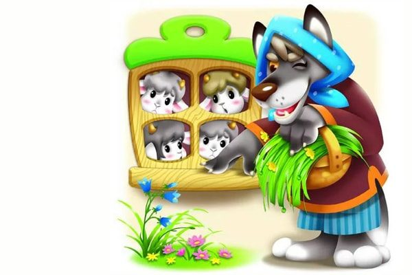 Картинка к сказке Волк и семеро козлят