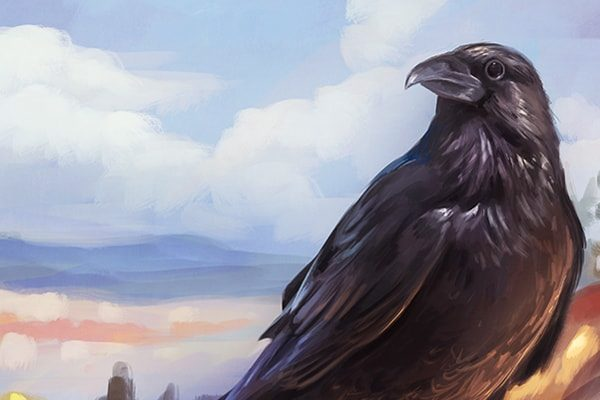 Картинка к сказке Ворона