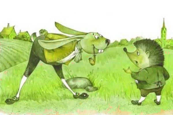 Картинка к сказке Заяц и ёж
