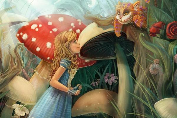 Картинка к сказке Алиса в Зазеркалье